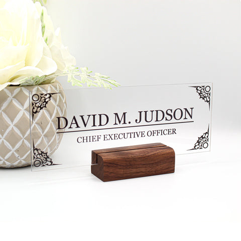"Desk Name Plate Personalized Men Gift Custom Name Plates Men Desk Office Men Sign Name plaque Men gift decor - (8""x3"") Men Gift"