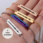 Personalized Engraved Soundwave Gift Custom Song Engraved Necklace for Women Jewelry Art wave Necklace