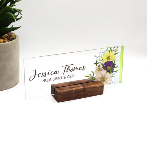 Custom Name Desk Plate | Personalized Name Plate | Choose Your Font and Design | Custom Office Decor Nameplate Sign | Personalised Gift