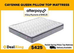 QUEEN POCKET SPRING PILLOW TOP MATTRESS 210MM THICK