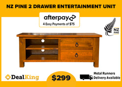 2 DRAWER NZ PINE ENTERTAINMENT UNIT