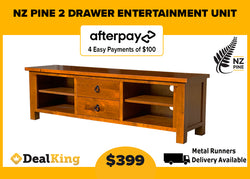 2 DRAWER NZ PINE TV UNIT