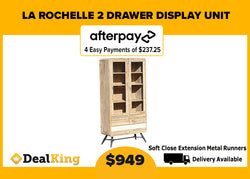LA ROCHELLE 2 DRAWER DISPLAY UNIT