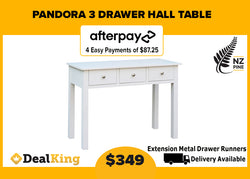 PANDORA 3 DRAWER HALL TABLE