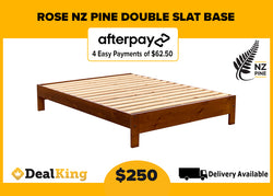 SOLID NEW ZEALAND PINE DOUBLE BASE