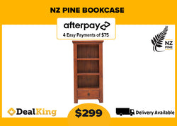 SOLID NZ PINE BOOKCASE