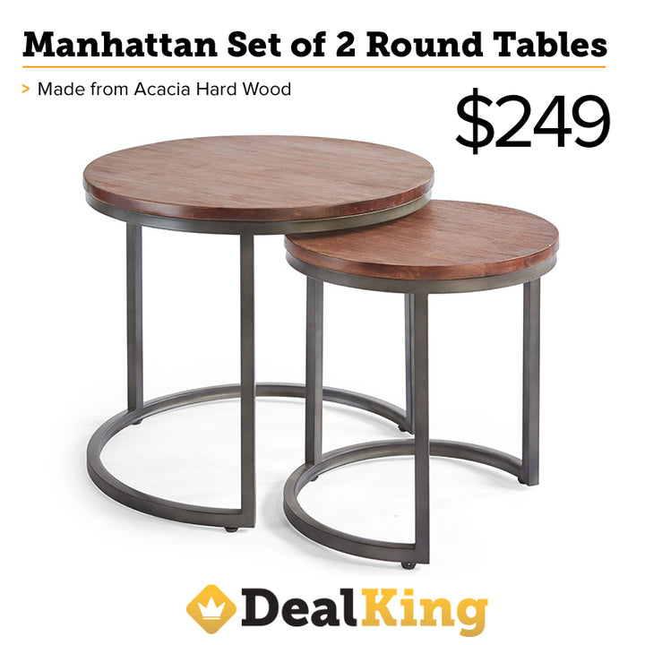 MANHATTAN ROUND TABLES BLACK