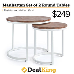 MANHATTAN ROUND TABLES WHITE