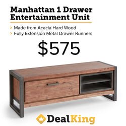 MANHATTAN 1 DRAWER ENTERTAINMENT UNIT