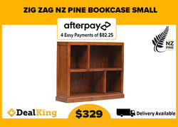 ZIG ZAG NZ PINE SMALL BOOKCASE