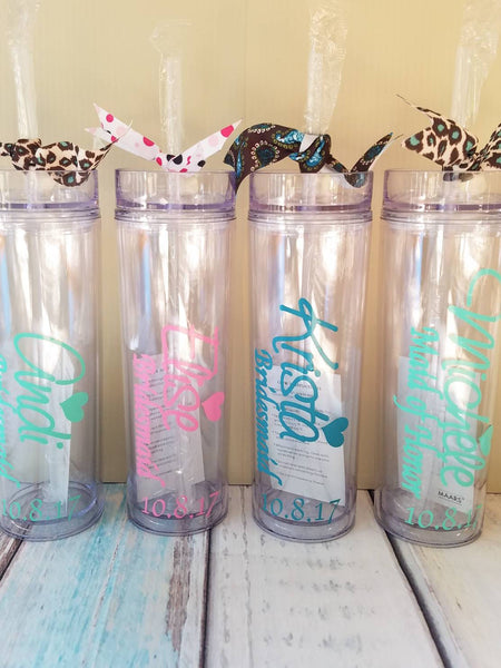 Personalized tumblers  gifts for wedding party New Way Signs