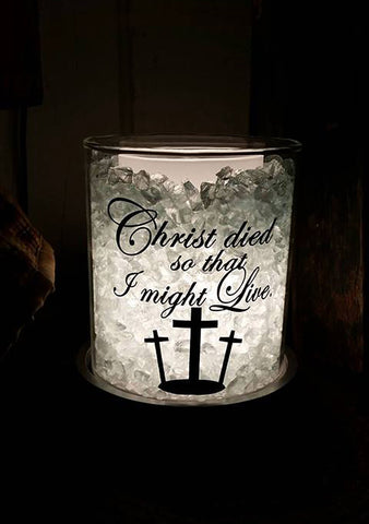 Christ died so that I might live decal, Warmer decal, Religious decal, Easter decal, Cross decal