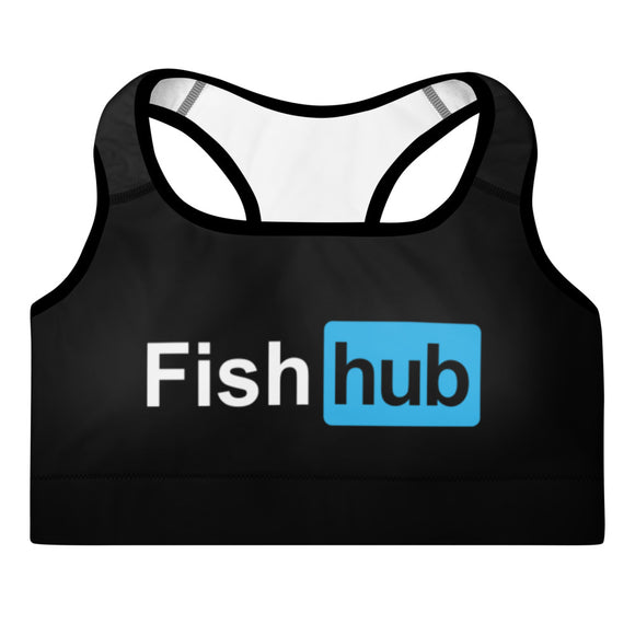 Fish Hub Blue OG Padded Sports Bra