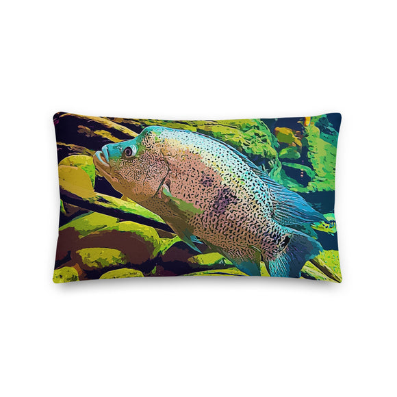 Parachromis Dovii Throw Pillow