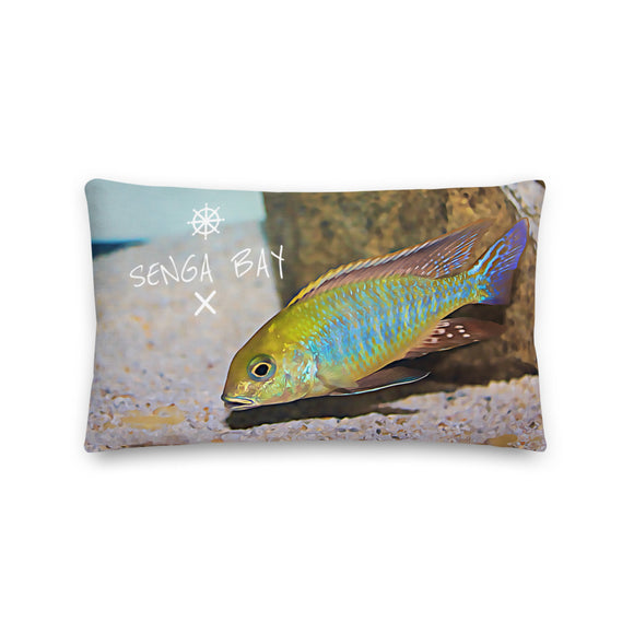 Tramitichromis Intermedius 'Senga Bay' Luxury Throw Pillow