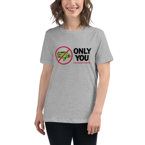 Only You Can Prevent Hybrids 'Frankenfish' One Sided Women's Relaxed Tee