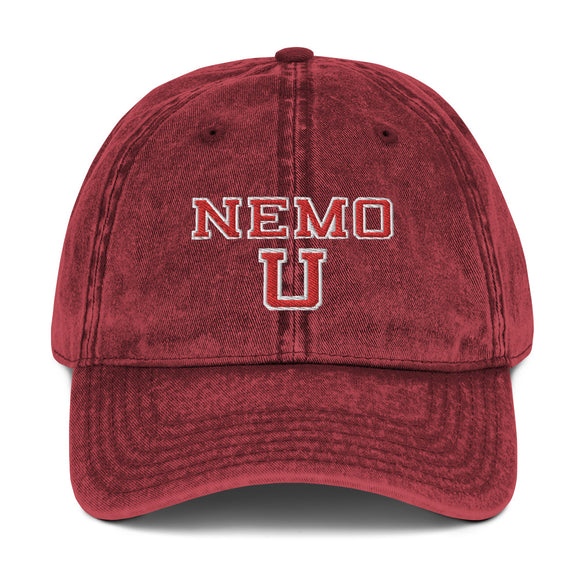 Vintage 'Nemo U' Cotton Twill Cap