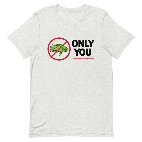 Only You Can Prevent Hybrids 'Frankenfish' One Sided Short-Sleeve Tee