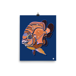 Garibaldi Damselfish by Izelillustrations