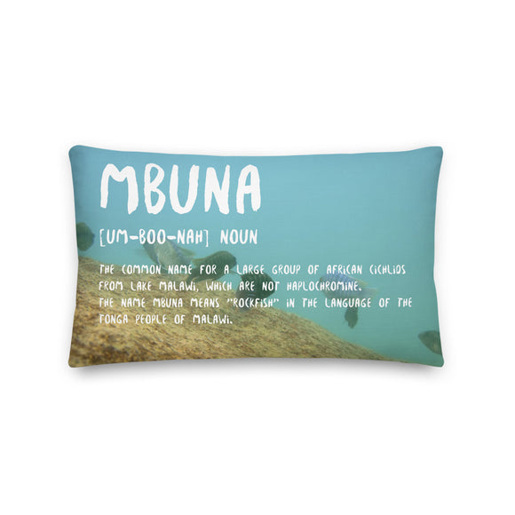 Mbuna Definition Throw Pillow