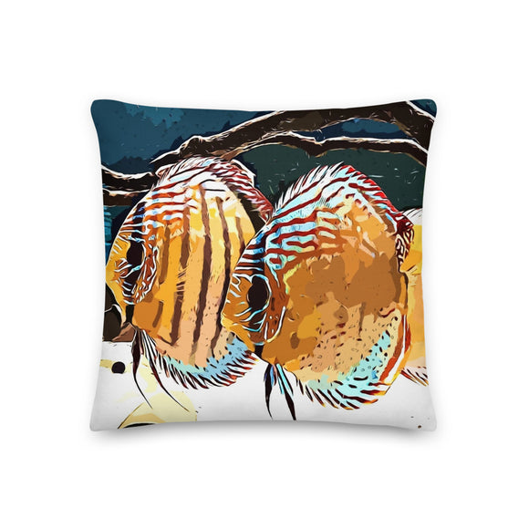 Wild Green Discus Pillow