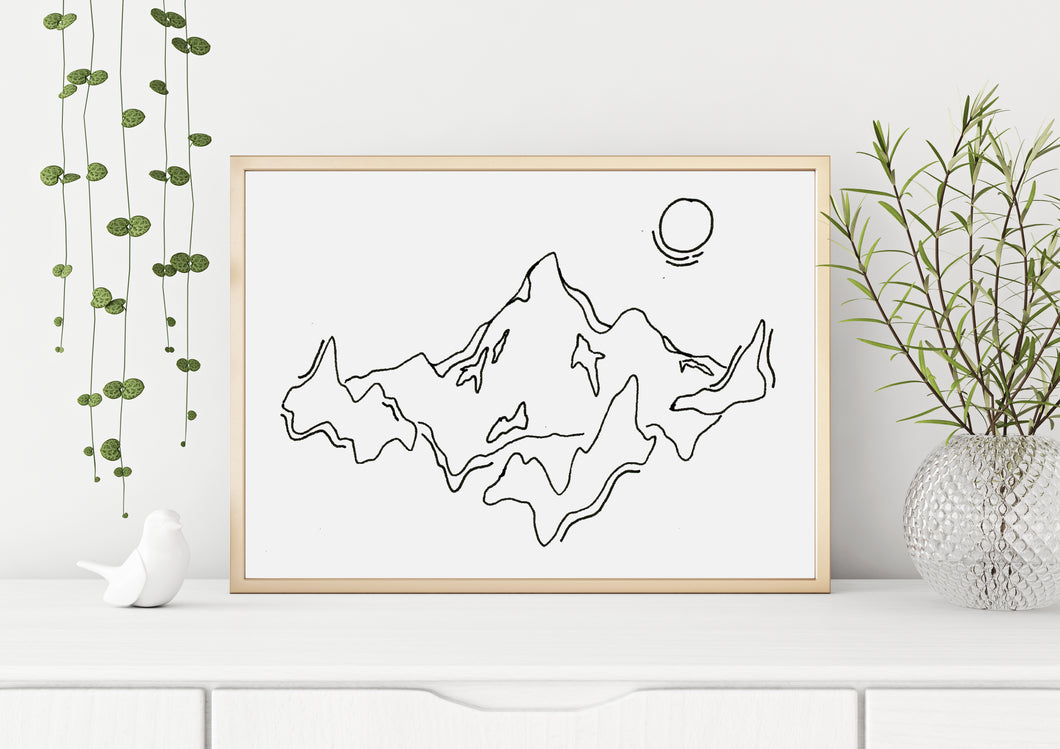 Mountain Line Digital Print