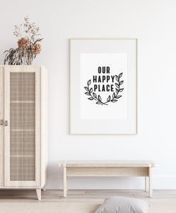 Our Happy Place Digital Print