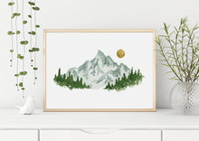 Load image into Gallery viewer, Watercolor Mountain Digital Print