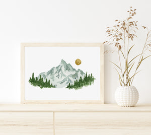 Watercolor Mountain Digital Print