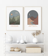 Load image into Gallery viewer, Wilderness + Desert Digital Print Pair,  Print Set