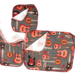 Non Paper Towels Napkins Guitars 3 size assortment pack