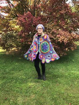 Free Form Crochet Jacket Poncho