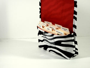 Coupon Organizer Zebra Fabric