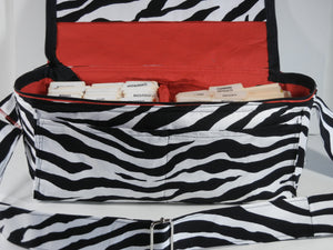 Coupon Organizer  Mega Deluxe Double Wide Zebra Fabric
