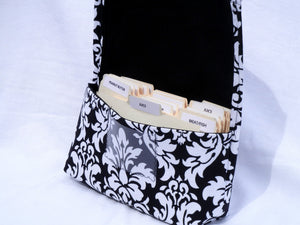 Coupon Holder Damask Fabric