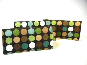 Checkbook Cover Moss Dots