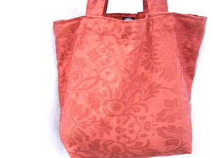Market Tote Bag Rust Drapery Fabric