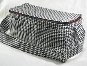 Double Wide Coupon Organizer Houndstooth Heavy Duty Fabric