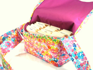 coupon pocketbook watercolor fabric