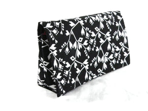 Coupon Organizer Holder Black White Triangle Vine