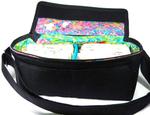 Coupon Organizer Double Wide Solid Black Twill