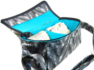 Double Wide Coupon Organizer Modern Chevron with Turquoise Lining