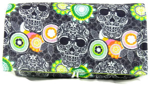Coupon Organizer Fabric Skulls