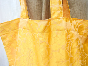 Market Tote Bag Gold Drapery Fabric