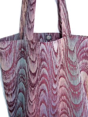 Grocery Market Tote Bag Upholstery Watercolor Chevron