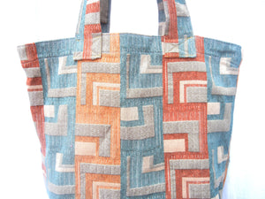 Grocery Bag, Tote Bag, Market Bag, Upholstery Heavy Duty Rust Gold