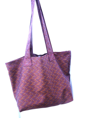 Carry All Market Grocery Tote Bag Muted Purples