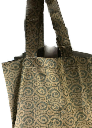 Grocery Carry All Market Tote Bag Olive Swirl