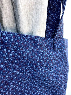 Carry All Market Grocery Tote Blue Burgundy Squares