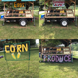 Custom Roadside Signs ,Yarn Signs to Hang or Stake,  Colorful Yarn Bomb Signs
